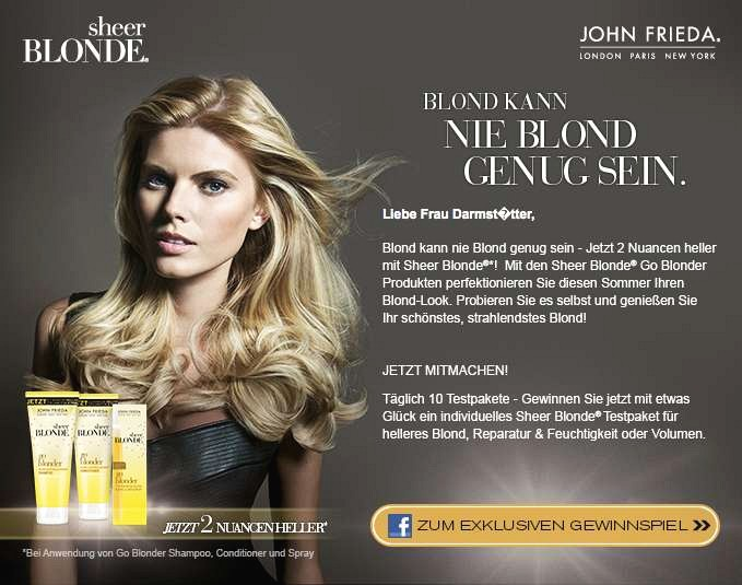 Testaktion zu John Frieda Sheer Blonde